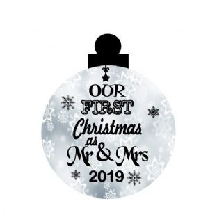 1st Christmas as Mr & Mrs Acrylic Christmas Ornament Decoration